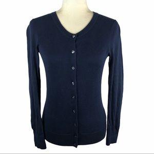 Tommy Hilfiger Pima Cotton Navy Cardigan Sweater